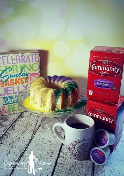 Community Coffee Easter King Cake