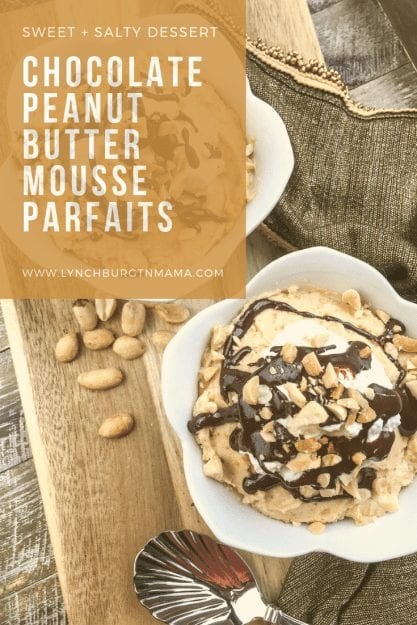 Chocolate Peanut Butter Mousse Parfaits
