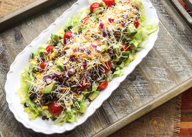 Hearty Beef Taco Salad is a delicious addition to Taco Tuesday!