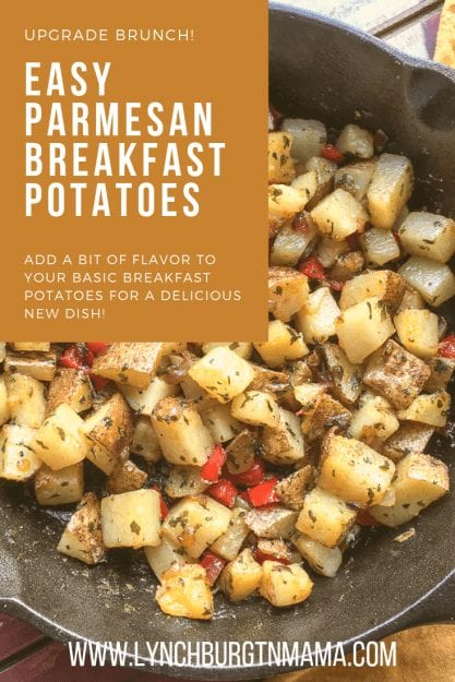 Upgrade breakfast + brunch with this Easy Parmesan Breakfast Potatoes Recipe. Add a bit of flavor!