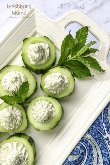 Cucumber Cups with Whipped Feta and Dill