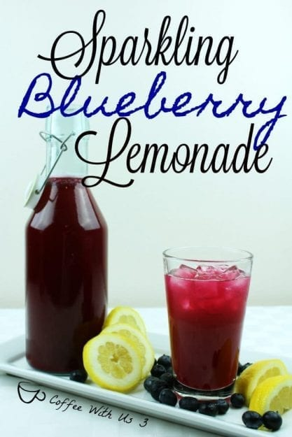 Try this tasty Sparkling Blueberry Lemonade from Coffee With Us 3.