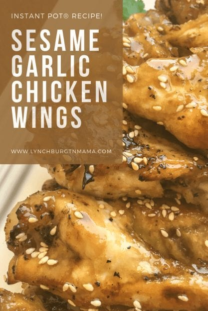 Instant Pot®Sesame Garlic Chicken Wings
