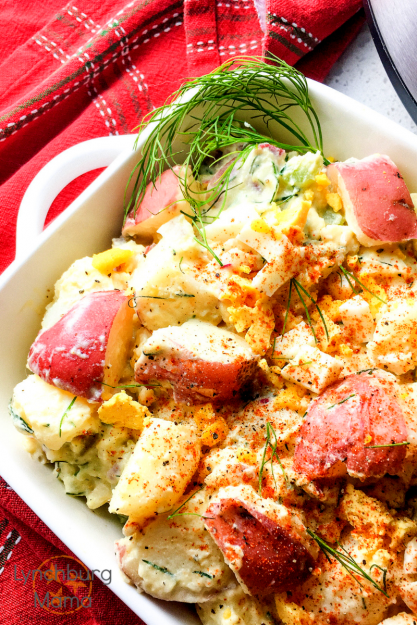 Instant Pot Potato Salad is a favorite of the potluck dishes