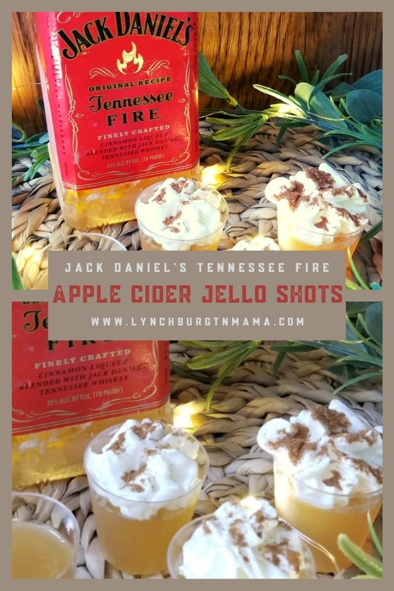 Warm up Fall nights with Jack Daniel's Tennessee Fire Apple Cider Jello Shots!