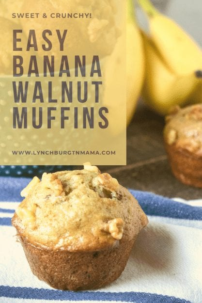 Banana Walnut Muffins give you a little sweetness with a nutty crunch for one of the best baked goods you can make!