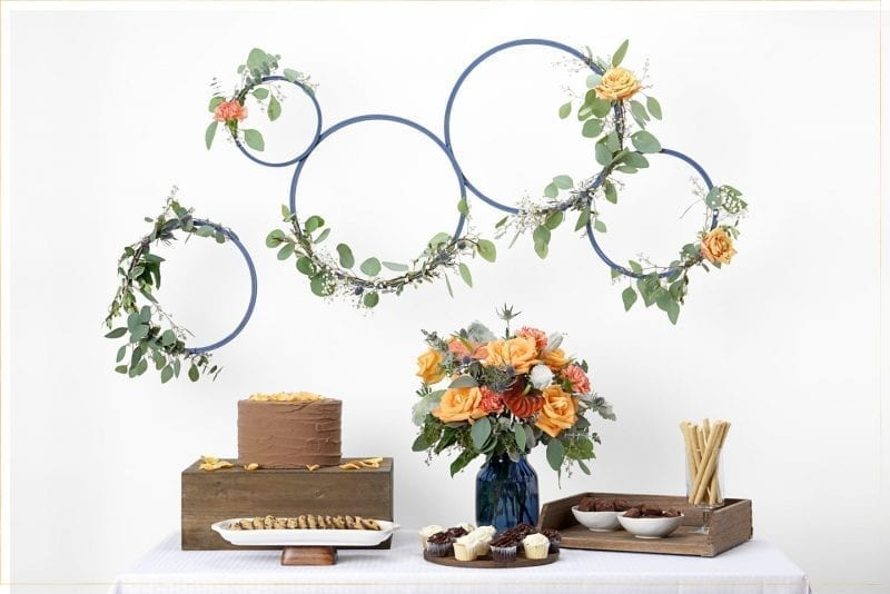 Step 5:  Hang your beautiful wreaths at your event!