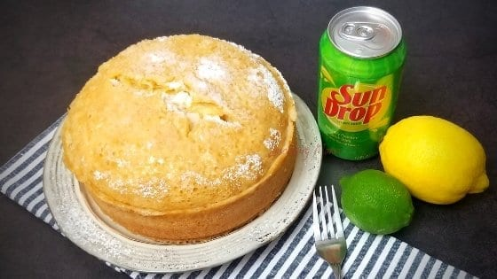 Uncut Instant Pot Sun Drop Cake with Soda Can, Lemon and Lime