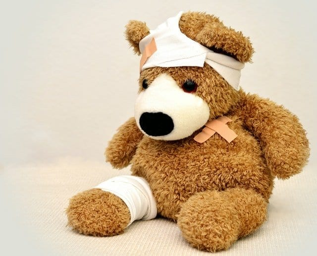 Even Teddy Bears can have common accidents!