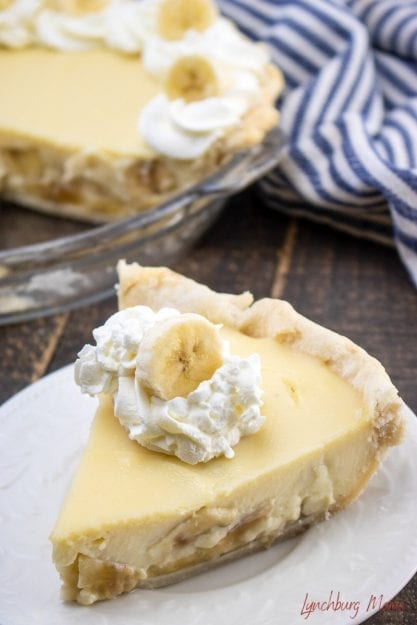 Southern Banana Cream Pie is good any time of the year - especially when made with a from-scratch crust!