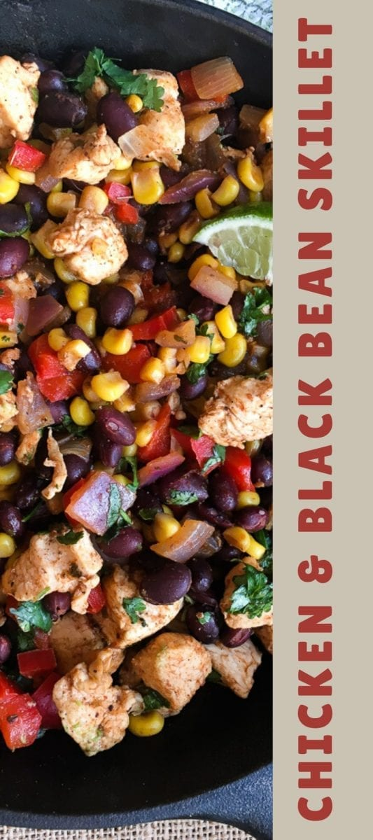 Chicken and Black Bean Skillet Meal Banner