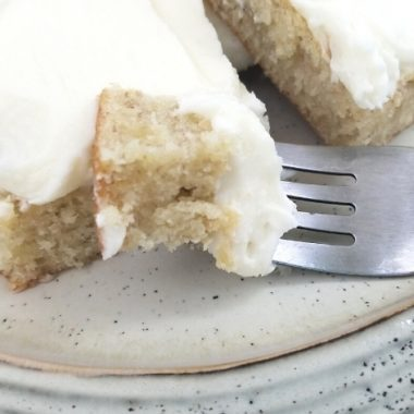 Whiskey Cream Cheese Topped Banana Bars from Lynchburg Mama