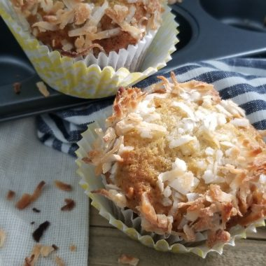 Banana Coconut Muffins are sweet and crunchy!