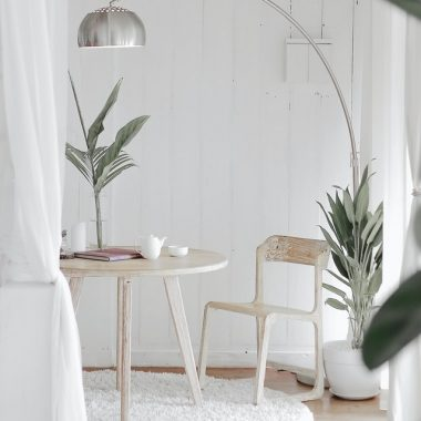 Create a natural tone in your home with crisp, clean colors, natural materials, etc.
