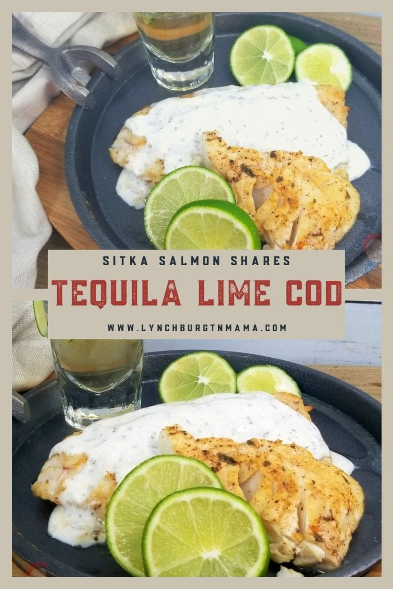 Tequila Lime Cod made with Pacific Cod from Sitka Salmon Shares