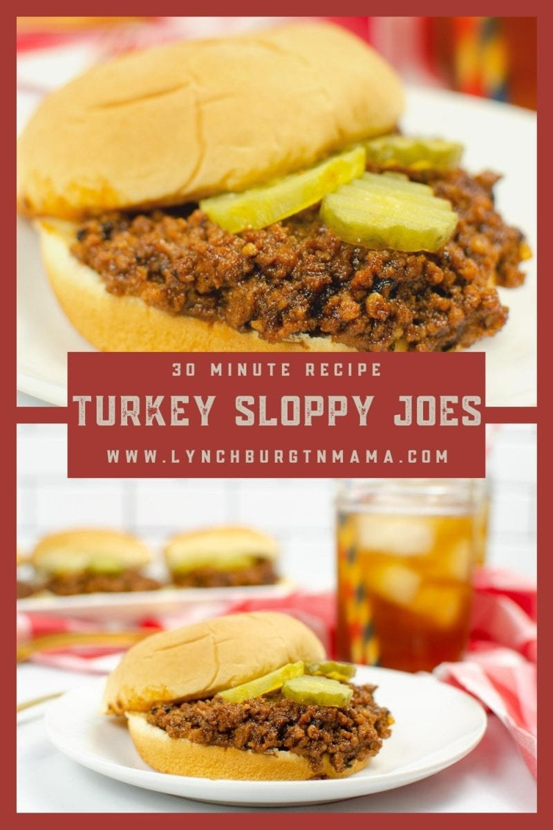Dinner doesn't have to be hard! Enjoy a flavorful, homemade Turkey Sloppy Joes meal in 30 minutes!