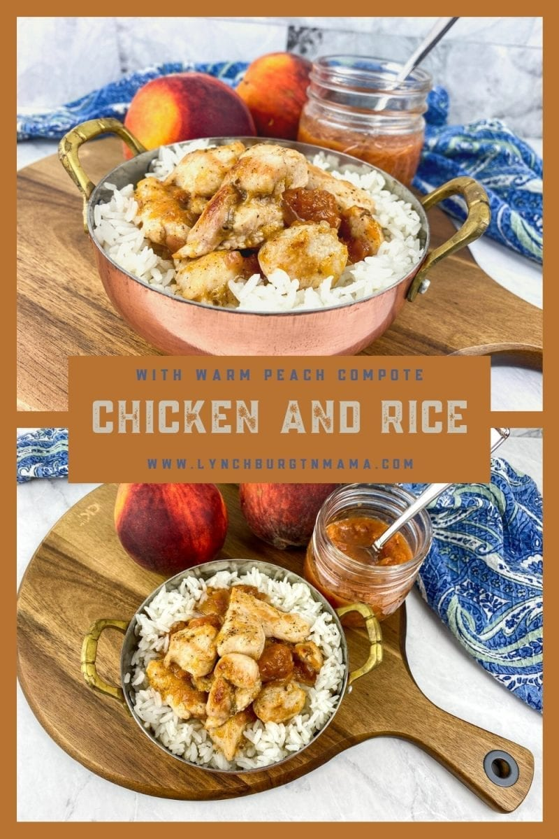 Sweet and Savory Chicken and Rice with Peach Sauce