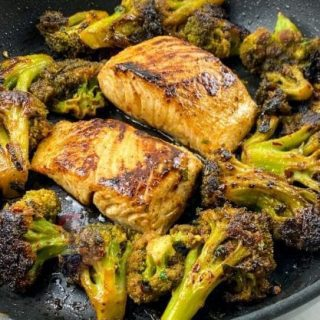 Chili Lime Mahi-Mahi with Blackened Broccoli