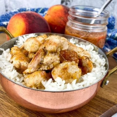 Chicken and Rice with Peach Sauce