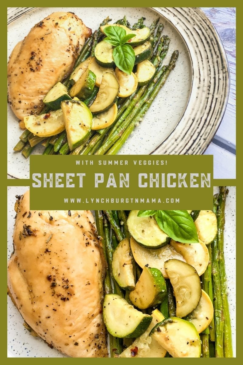 Put this flavorful Sheet Pan Chicken Breasts and Summer Veggies meal on your dinner table this week. It's deliicous!