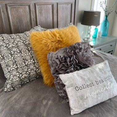 Refreshing your home is as easy as changing up the pillows!