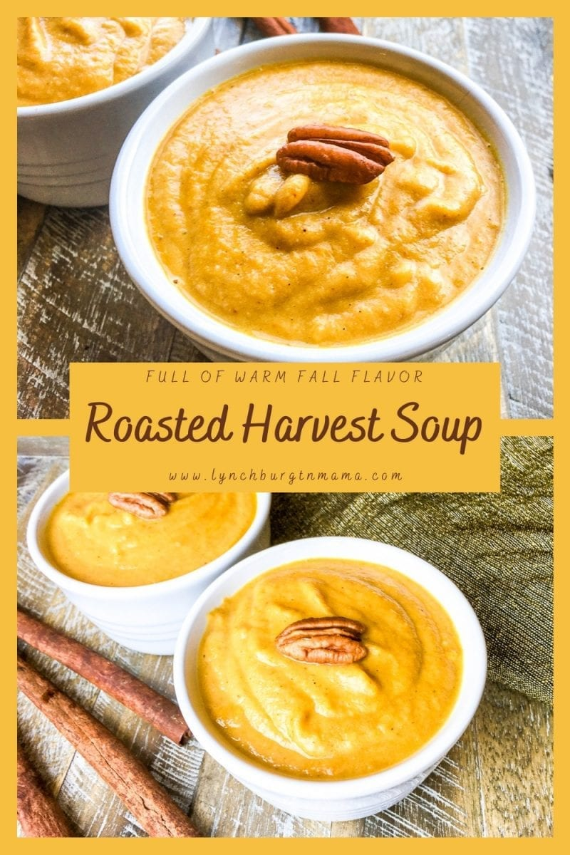 Enjoy the warm, hearty flavors of Fall in a batch of Roasted Harvest Soup! It's a great way to use Butternut Squash and an abundance of apples.