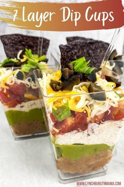 7 Layer Dip Cups Appetizers