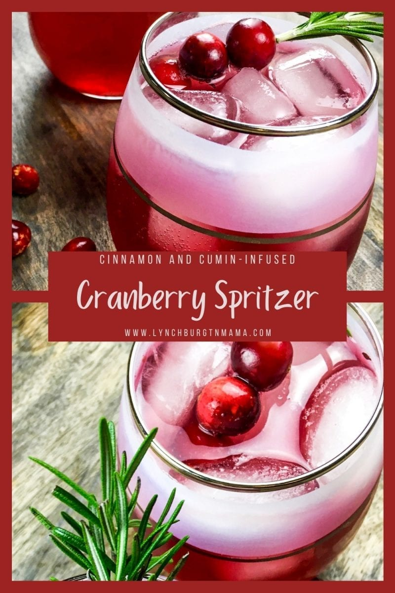 Enjoy a festive drink of the season with a Cinnamon and Cumin-infused Cranberry Spritzer! The recipe makes 6 drinks and will surprise your guest with the unique flavor!