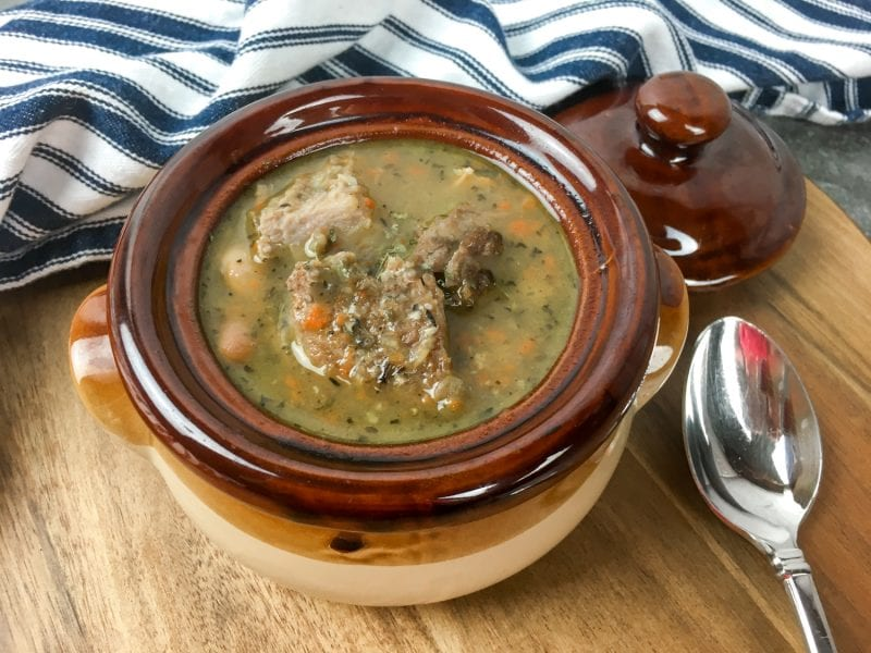 Easy Healthy 15 Bean Soup made with pork is a great way to warm up during the winter season! This soup is easy, healthy, and full of flavor!