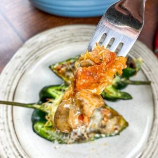 Pizza-Stuffed Poblano Peppers