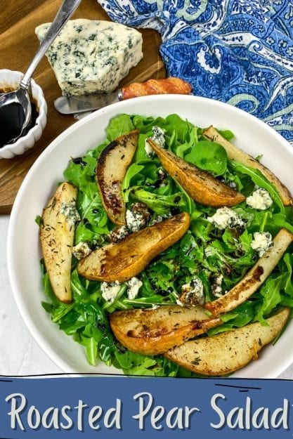 Roasted Pear Salad with Bleu Cheese