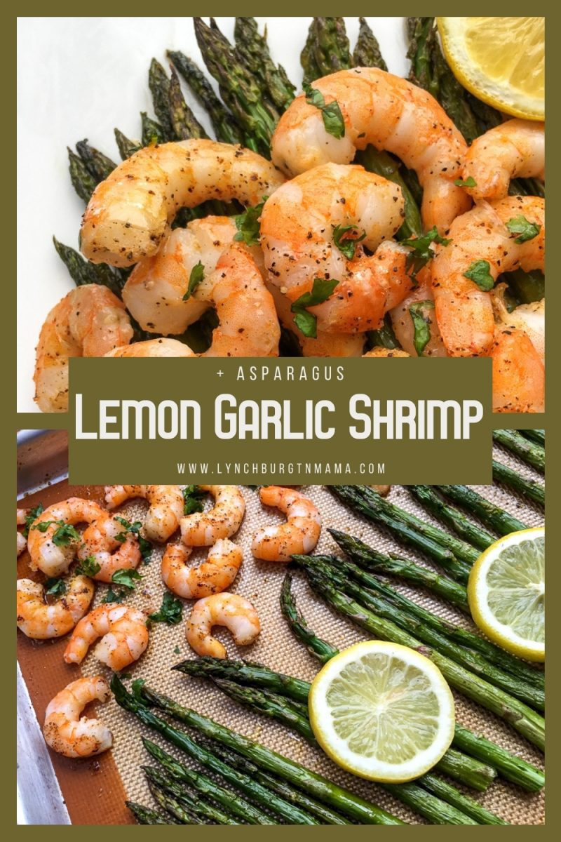 Lemon Garlic Shrimp and Asparagus are healthy and filling dinner option that is table-ready in about 30 minutes. Give it a try this week!
