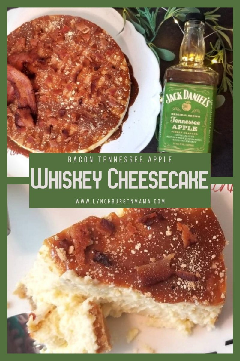 Bacon Tennessee Apple Whiskey Cheesecake is completely worth breaking any rule for your diet! Containing three of my favorite things (bacon, whiskey, and cheesecake), this is a dessert that gives you savory and sweet!
