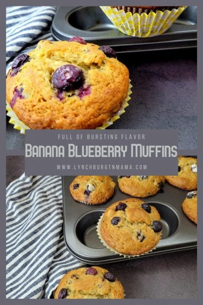 These Banana Blueberry Muffins are bursting with juicy berries wrapped up in a banana muffin texture. For an extra surprise, you'll find a hint of maple!