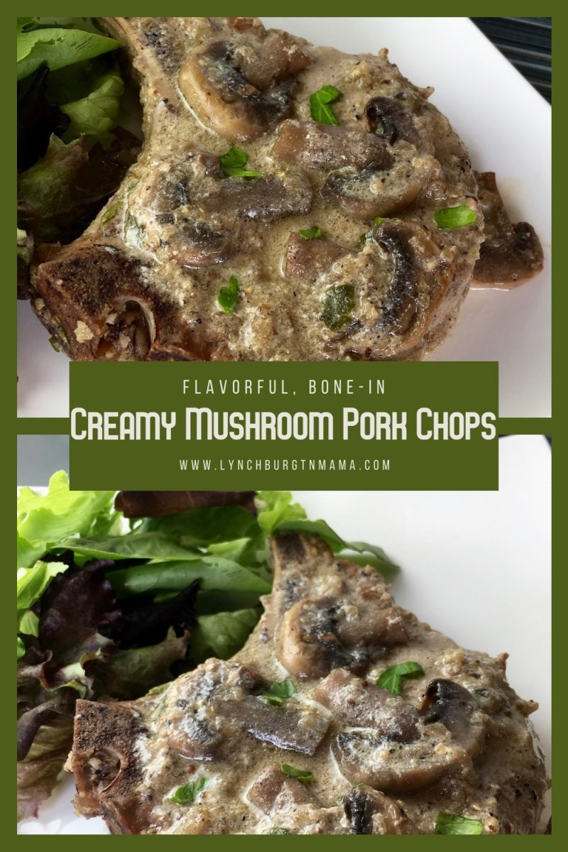 Creamy Mushroom Pork Chops are a rustic recipe that your family will enjoy being put on the dinner table! Packed with flavor, these are easily a new favorite!