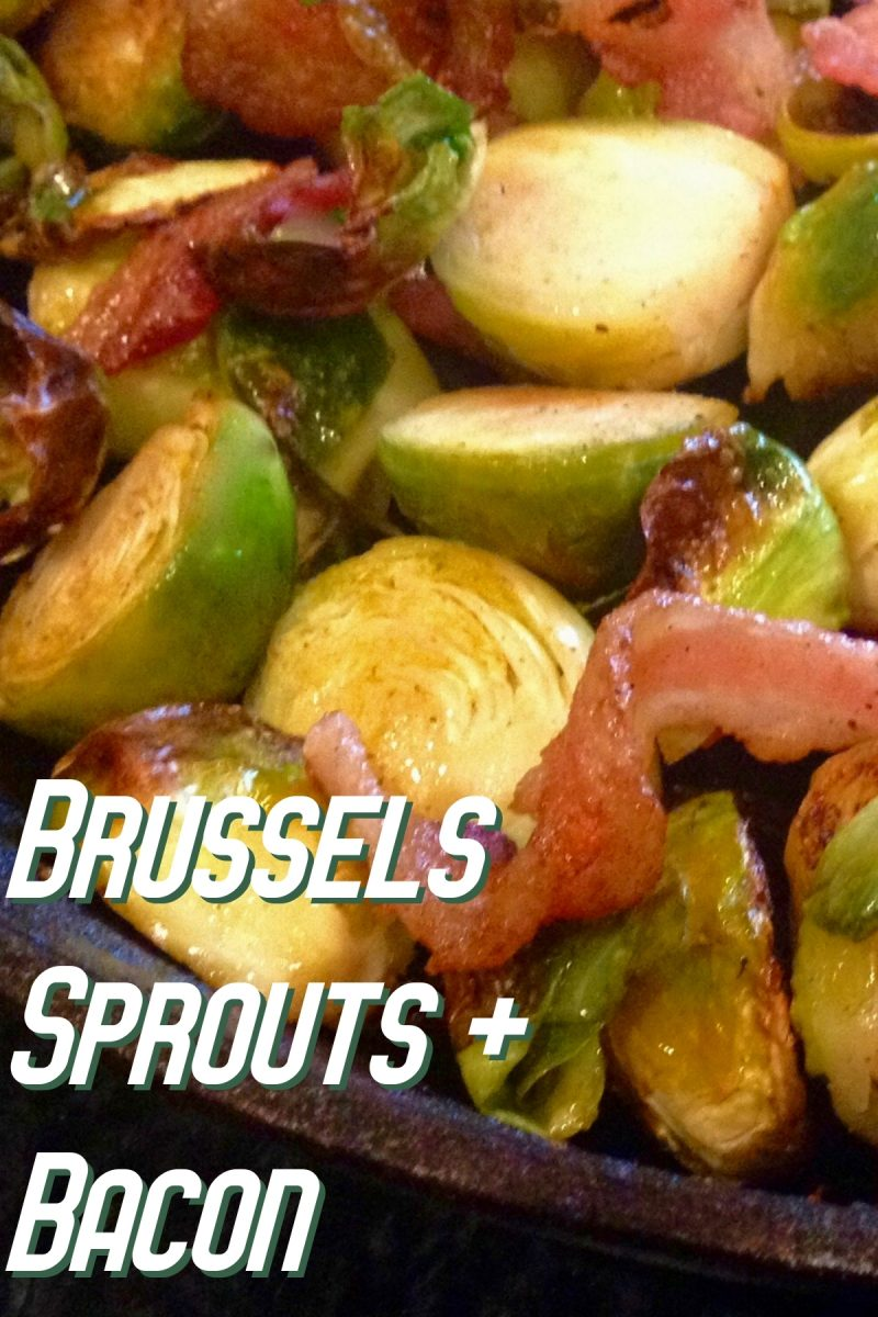 Pan-Roasted Brussels Sprouts and Bacon