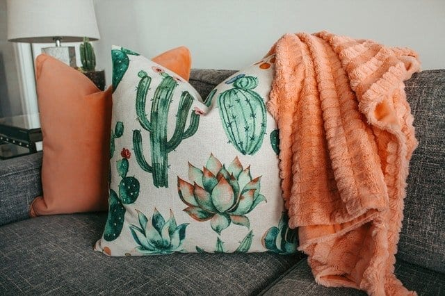 Make your home comfortable with pillows, blankets, brighter lighting, and more!