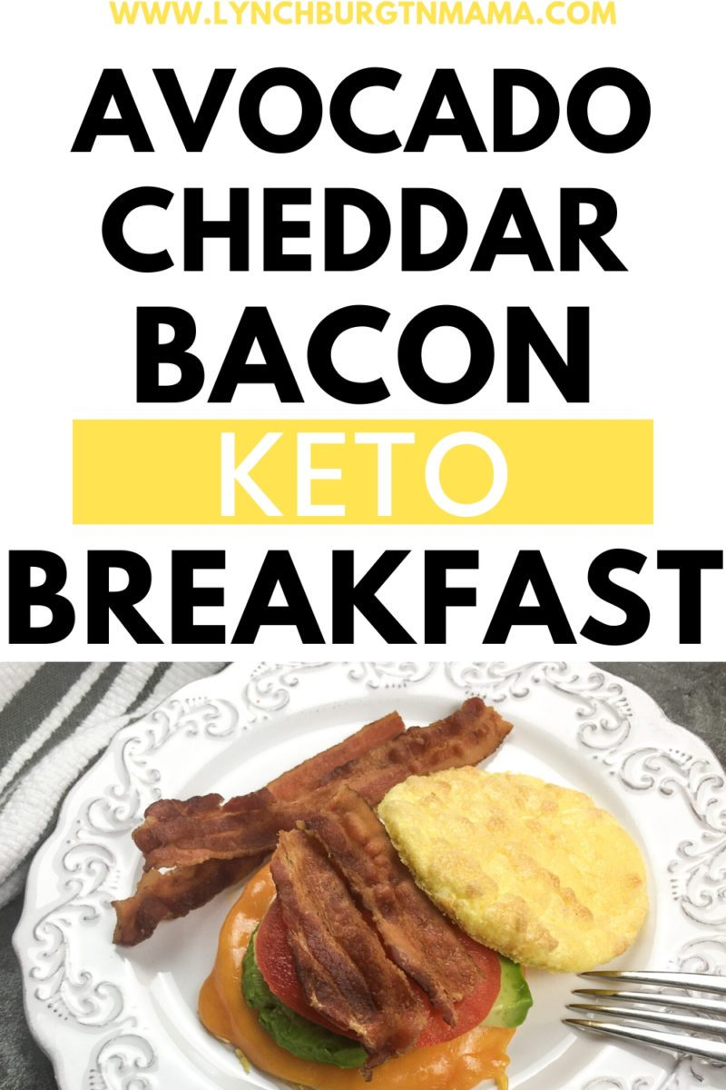 In need of a Keto Breakfast Sandwich that will fuel you through the morning until snack time? Try this Avocado Cheddar Bacon recipe! It's tasty even for non-Keto followers!
