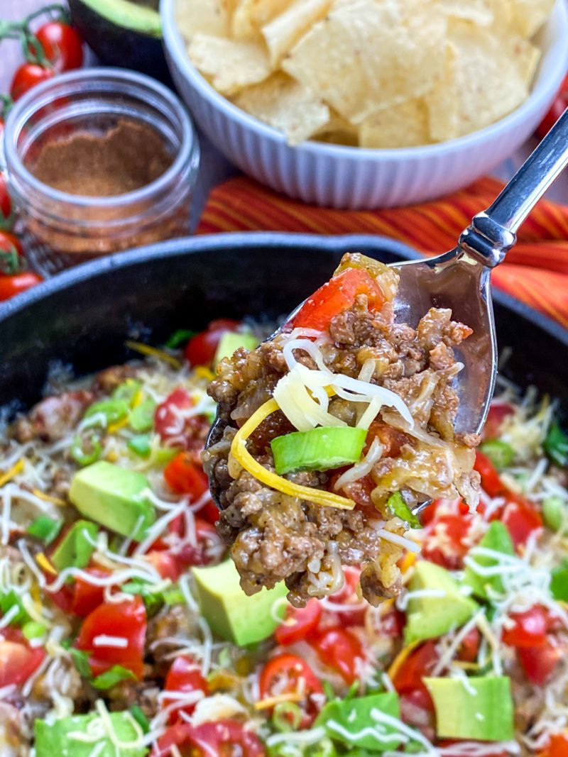Spoonful of Beef Taco Skillet