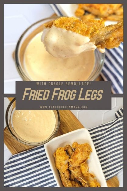 Fried Frog Legs with Creole Remoulade