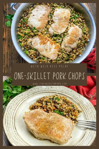 Pork Chops with Wild Rice Pilaf takes about an hour to cook, but is well-worth the amazing flavor you'll find in this dish.