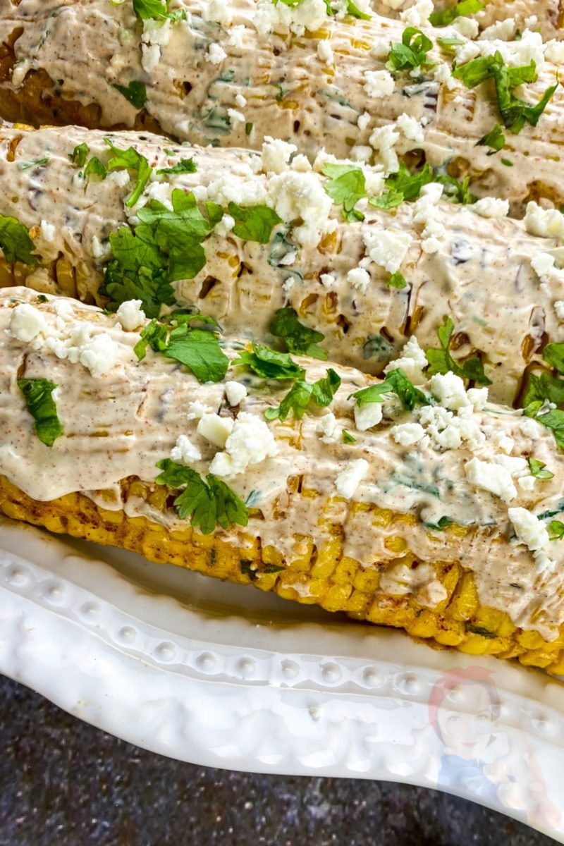 Broiled Mexican Street Corn is an essential for summer BBQs and picnics. Full of flavor straight from the grill, make these to accompany any spring or summer meal!