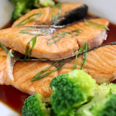 salmon and broccoli are good food choices for improving your health