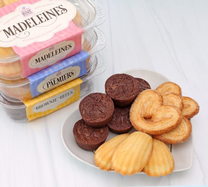 Sugar Bowl Bakery Products including madeleines, palmiers, and brownie bites for single-serve desserts