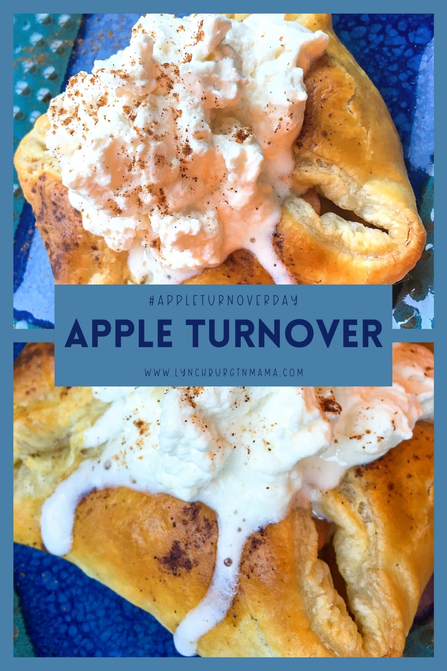 Apple Turnovers are a fruit-filled pastry that are easy to make. Topped with Maple Whipped Cream, these can easily be a tasty breakfast or dessert!