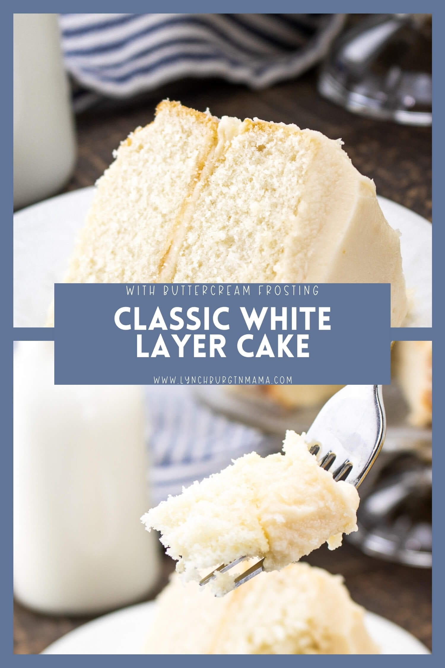 A Classic White Layer Cake is the perfect cake to celebrate any occasion! It's purely decadent when topped with buttercream frosting. Try this sweet recipe for your next special event.