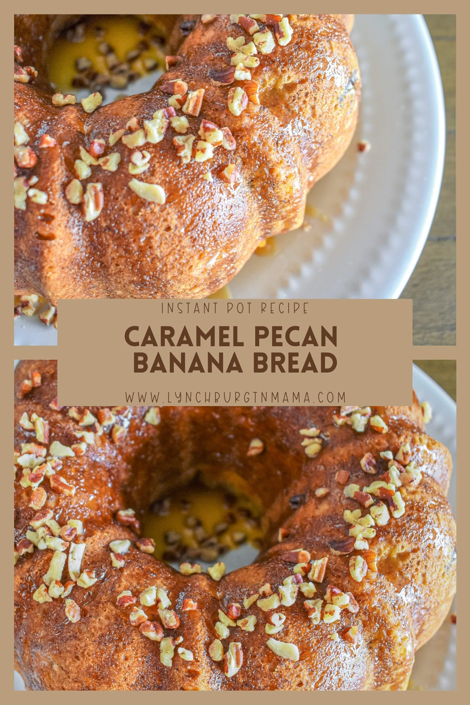 Instant Pot Caramel Pecan Banana Bread is a moist, delicious treat that will change your baking game! Enjoy for breakfast or as a dessert.