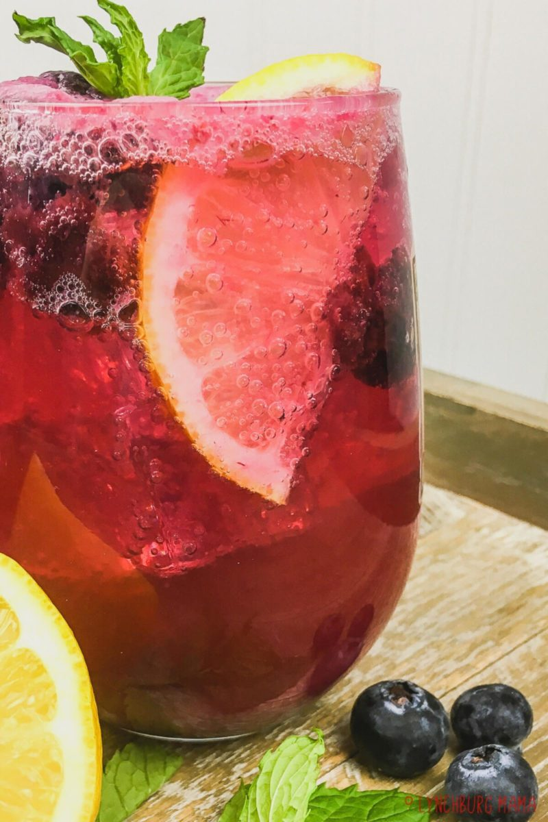 A refreshing Sparkling Blueberry Maple Lemonade is exactly what your summer needs. Upgrade your standard lemonade with this delicious drink!