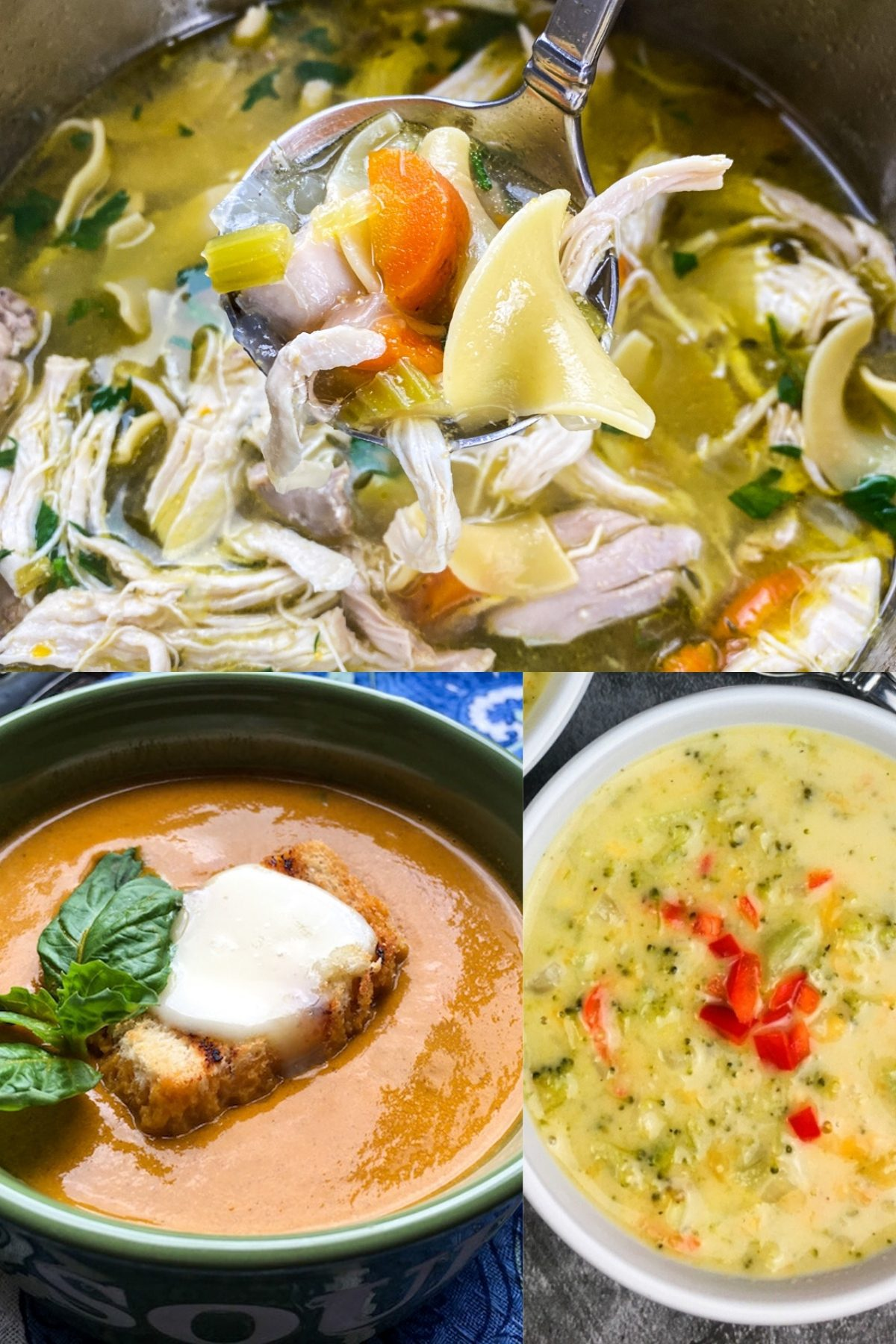 Healthy Fall Soup Collage