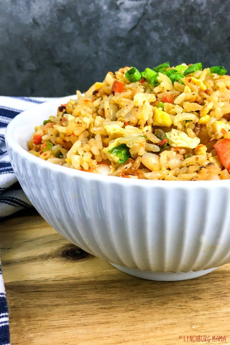 Bowl of completed rice